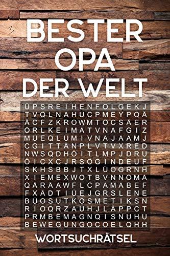 BESTER OPA DER WELT - Wortsuchrätsel: Rätselbuch als Geschenk für den Großvater | Über 100 Buchstaben Rätsel | Reisegröße ca. DIN A5