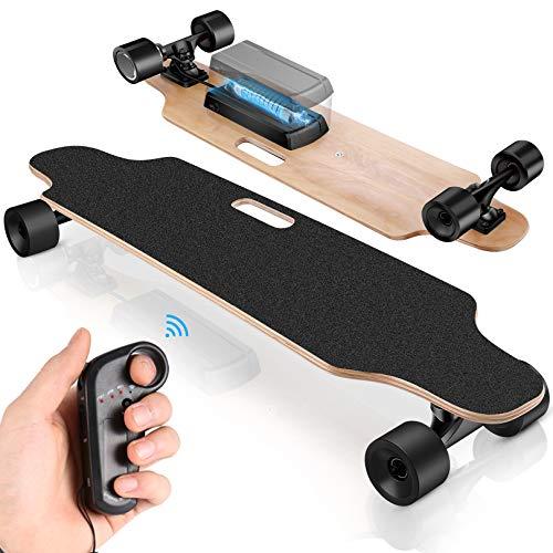 Hesyovy Das neueste Elektrisches Skateboard mit kabelloser Fernbedienung für Erwachsene und Kinder