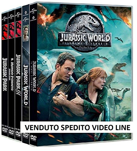 Jurassic Park Jurassic World 1-5 Collezione Completa (5 Film DVD) Edizione Italiana