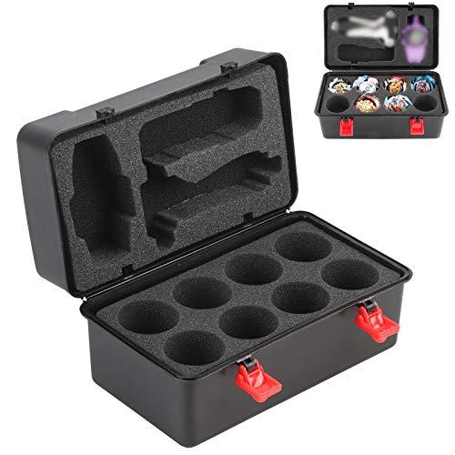 MorNon Caja de Almacenamiento de Espuma Caja de Almacenamiento Portátil Caja de Almacenamiento Gyro Blasting Gyro Launcher Accesorios para Niños Almacenamiento de Juguetes Negro