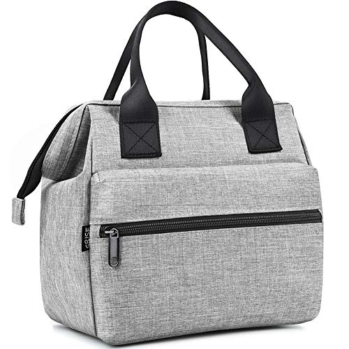 SRISE Insulated Lunch Bag Reusable Wide-Open Lunch Box Lunch Cooler Tote Bags Adult Durable Nylon Water-Resistant Lunch Boxes for Women & Men