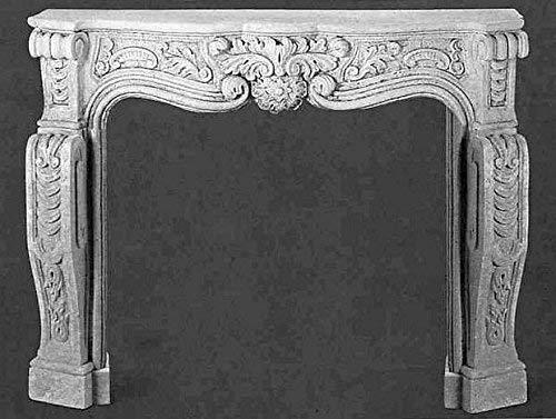 pompidu-living Kamin, Kaminumrandung, Steinkamin Renaissance Farbe Sandstein