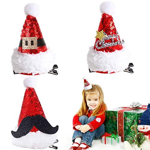 3 Stück Weihnachten Haarspange,Haarspange für Weihnachten,Weihnachten haarschmuck kinder,weihnachten haarschmuck damen,Weihnachten Hut Haar-Accessoires,Weihnachten Party,Weihnachten haarschmuck (A)