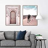MYSY Marokko Poster Drucke Sahara Poster Islam Wandkunst