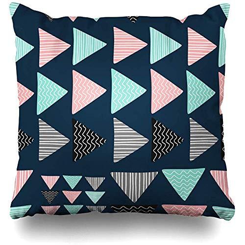 Kussensloop, geometrisch driehoekig design, abstract patroon, creatief, schattig, geometrisch patroon