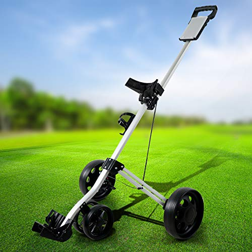 Professional Golf Cart New 4Wheel Foldable Trolley,Multifunctional and Convenient Golf cart Can Be Quickly Opened and Closed