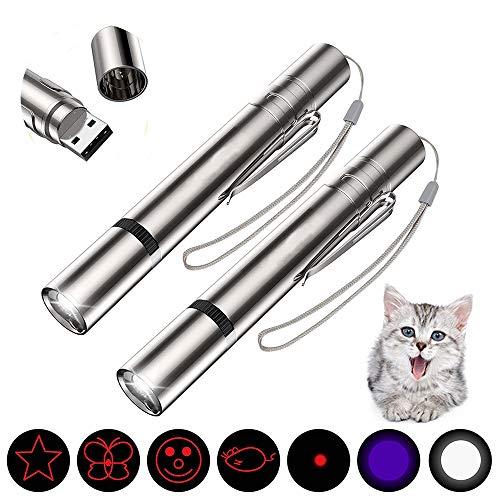 2pcs LED Pointer für Katzen und Hunde, LED Light Licht Pointer für Interaktives Spielzeug für Katzen und Hunde,Trainieren Sie den Körper und die Beweglichkeit Ihres Haustieres