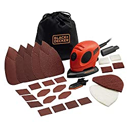 Black and Decker KA161BC Mouse Detail Sander with accessories