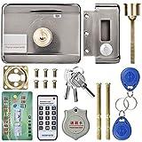 Wandisy 【𝐂𝐡𝐫𝐢𝐬𝐭𝐦𝐚𝐬 𝐆𝐢𝐟𝐭】 Cerradura electrónica de Puerta, ID de Sistema de Control Remoto Inteligente Cerradura de Puerta de Doble Cabezal