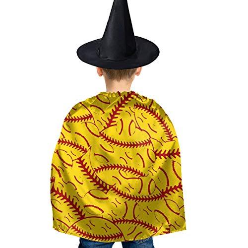 Amoyuan Unisex Kids Kerstmis Halloween Heks Mantel Met Hoed Baseball Tennis Strategie Patroon Wizard Cape Fancy Jurk