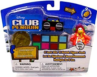 Disney Club Penguin 2'' Mix 'N Match Figure Pack - Gamma Gal and Shadow Guy- To the Rescue!