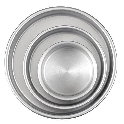 Wilton Backformen Runde Kuchen, Aluminium, 3-Teiliges Set aus Kuchenformen 20,3 cm, 15,2 cm und 10,1 cm, Sonstige, Silber
