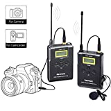 Inalámbrico Lavalier Sistema de micrófono, Saramonic uwmic15 UHF 16 canales regazo omnidireccional micrófono para cámaras réflex digitales Camra, videocámara Canon 5d III 6d, Panasonic GH5/GH4