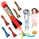 Duckura Jump Rocket Launchers for Kids, Outdoor Play with 5 Foam Rockets, Outside Activities Games Camping...