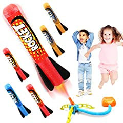 Cool Air Rocket - Bring the toy set outdoor, blast rocket in the space, win cheers from playmates. Ideal Christmas Halloween birthday gifts, party favor prize for 3 4 5 6 7 8 9 years old boys and girls. 360° Rotatable Launcher - Jump and stomp on the...