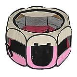 LLLKKK Outdoor Pet Box Folding Geschlossen Große Kapazität Gitter Perspektive Käfig Katze Hund Zelt 75 * 75 * 45 cm