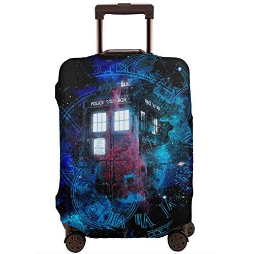 Cubierta de equipaje Tiempo y Espacio Niebla Tardis Doctor Who Maleta de viaje Protector de cremallera Maleta Cubierta lavable Moda Impresión Equipaje Cubierta con Cremallera de Viaje Maleta Protector