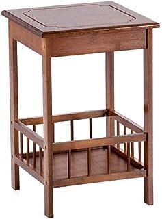 Hkwshop Mesa Auxiliar Pequeña Mesa de Centro Balcón de Madera Antiguo Mesa de Centro Salón Dormitorio Sofá Mesa Auxiliar M...