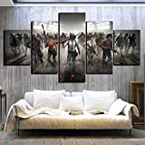 WYJIE 5 Piezas Pubg Stimulate The Battlefield Video Game Poster Wall Pictures para decoración del hogar Poster Artwork Wall Decor Canvas WholesaleFramed30x40cm30x60cm30x80cm
