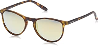 Polaroid Kids' PLD 8016/N LM SLG Sunglasses, Havana Yellow/Grey Goldmir Pz, 48