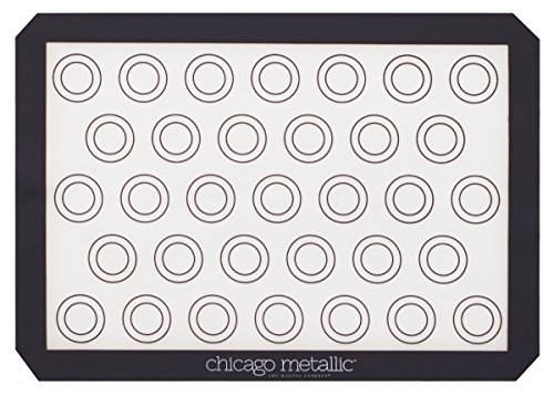 Chicago Metallic Silicone Pastry Mat with Measurements,, Baking Mat with Cookie Marks