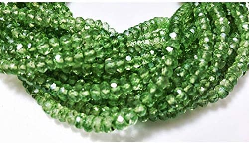GemAbyss Beads Challenge the Free shipping lowest price Gemstone 1 Strand Emerald Green Natural Mi