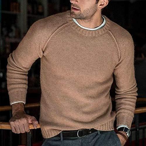 Nuevo Suéter De Moda para Hombre Otoño Invierno Jersey De Punto De Moda para Hombre Sólido Slim Fit Suéter...
