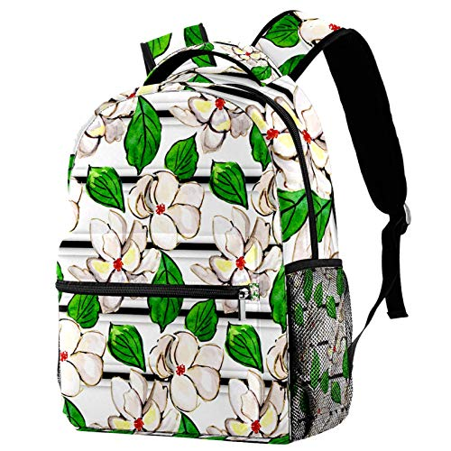 Backpack for Girls Flower Floral Women Daily Bag Travel Backpack 29.4x20x40cm