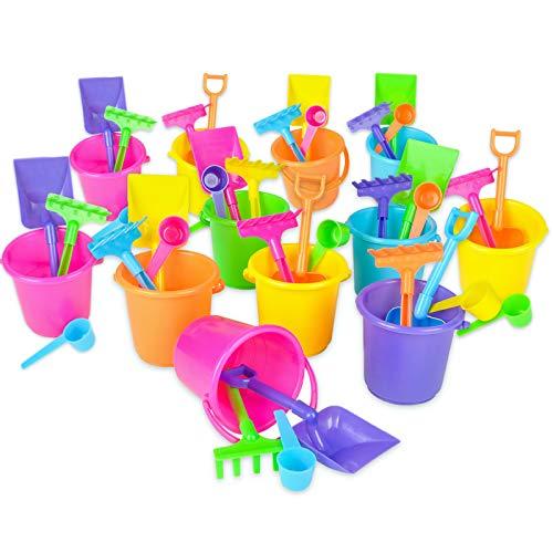 Mini Beach Bucket and Shovel Set - (Pack of 12) 3-1/4