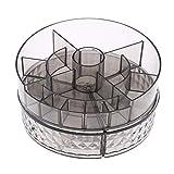 El joyero tiene una forma novedosa y única, un dis Estante de maquillaje de maquillaje de maquillaje giratorio 360 ° - Diamante transparente, 23.5x13 cm ( Color : Clear Diamond , Size : 23.5x13 CM )