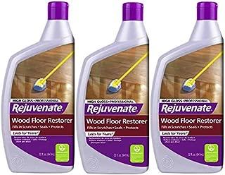 Rejuvenate RJ32PROFG 3PK Professional Wood Floor Restorer with Durable High Gloss Finish, 3 Pack