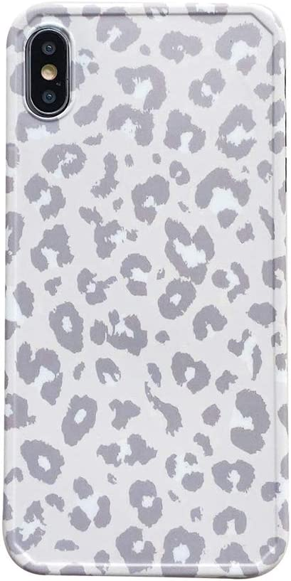 INS Cold Gray Leopard Print Pattern Brand new X Case iPhone Soft Apple for Surprise price
