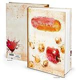 Libro de recetas XXL para escribir, Mon Live de Cuisine, color naranja y rojo, título de pimiento francés, 164 páginas + registro de recetas (idioma español no garantizado)