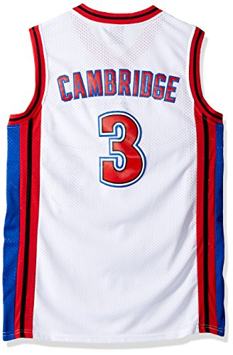 MVG ATHLETICS Cambridge #3 Knights Throwback Basketball Jersey Embroidery Small-XXL (White, Medium)
