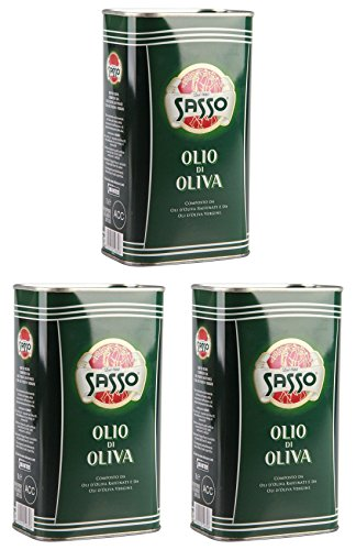 3x Sasso in dose 1L olio extravergine di oliva Extra Natives nativ Olivenöl