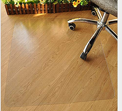Azadx Computer Chair Mat for Hard Floors, PVC Transparent Protector for Hard Surfaces, Home Office Chair Mats for Hardwood Floor (48 x 59'' Rectangle)