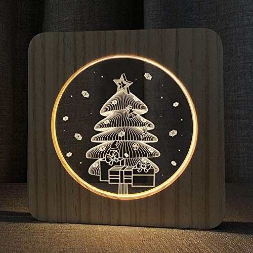 XDG Christmas Tree 3D Wooden lamp LED Night Light Home Room Decoration Creative Table Lamps for Kids Gift