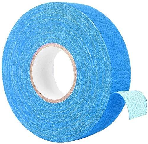 Nologo Raqueta de Tenis de Agarre, bádminton asa de Cinta Elasticidad Antideslizante Sobregrip for Cintas bádminton Poste de la Barra de ratón Palo de Hockey, 984 Pulgadas (Color : Blue)