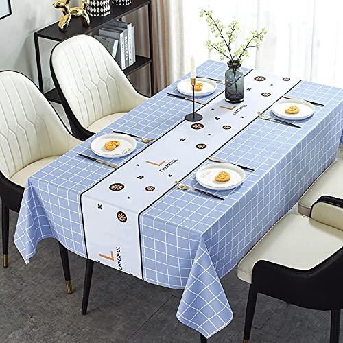 sans_marque Mantel, mantel lavable que se puede utilizar para decorar la mesa de la cocina y el buffet de la encimera, y se puede limpiar mantel de 140 cm
