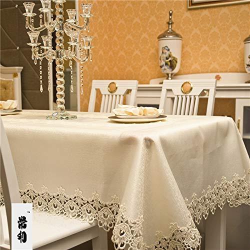 sans_marque Paño de mesa, cubierta de mesa, cubierta de mesa, mantel simple, tapete de mesa adecuado para decoración de cocina casera 150CM redondo
