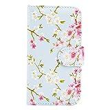 32nd Floral Series - Étui Portefeuille en Cuir PU Design Floral pour Samsung Galaxy A3 (2015),...