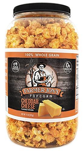 Farmer Jon's Cheddar Cheese Popcorn, 11oz of Gourmet Popped Popcorn
