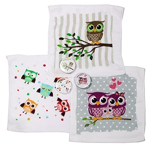 Magisches Handtuch 3er Eule Magic Towel Owl Waschlappen