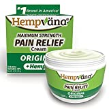 Hempvana Relief Cream with Seed Extract - Relieves Inflammation, Muscle, Joint, Back, Knee, Nerves and Arthritis – Made in USA 4oz Paraben Free, Vegan, Cruelty-Free As Seen On TV