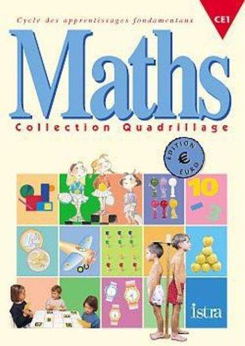 Quadrillage Maths CE1 Euro - Fichier de l'élève - Edition 2001