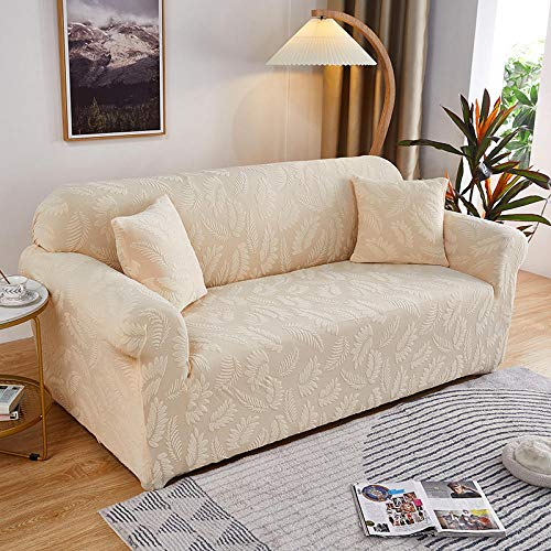 Fsogasilttlv Funda de sofá antisuciedad 3 plazas y 4 plazas 2 uds, Funda de sofá Jacquard Gruesa Color sólido, Funda de sofá de Tela de cojín para sofá para Sala de Estar