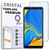 REY Protector de Pantalla Curvo para Samsung Galaxy A7 2018, Transparente, Cristal Vidrio Templado...