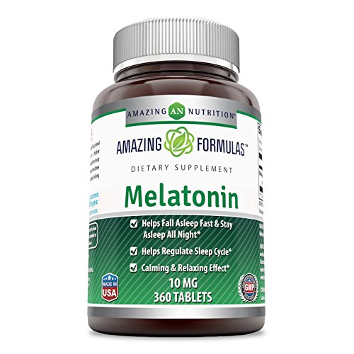 Amazing Formulas Melatonin for Relaxation and Sleep,10 Mg, 360 Tablets (Non GMO-Gluten Free) - Natural Sleep Aid Supplement – Promotes Calming and Relaxing Effect Suitable for Vegetarian