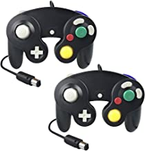 Gamecube Controller,Techinthebox 2 Packs Classic Wired Controllers Gamepad for Wii Gamecube,Compatible with Wii Nintendo Gamecube-Black