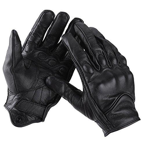 Preisvergleich Produktbild Motorrad Handschuhe,  Paar Vollfinger Leder Motorrad Radsport Rennhandschuhe Motocross-Schutzausrüstung(L)